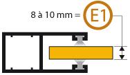 Epaisseur lame E1