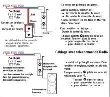 branchement electrique volet roulant